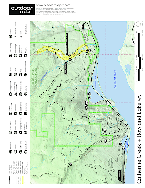 Catherine Creek Hiking Trail Trail Map