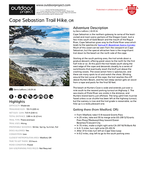 Cape Sebastian Trail Hike Field Guide