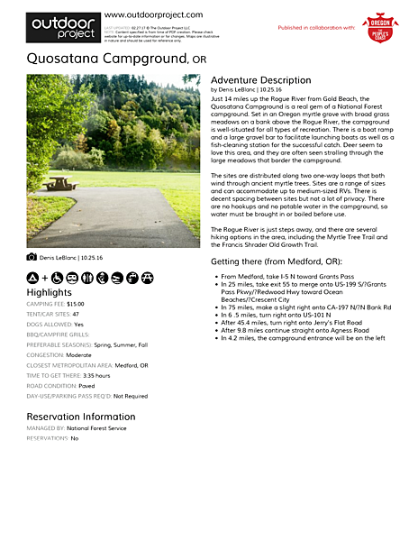 Quosatana Campground Field Guide
