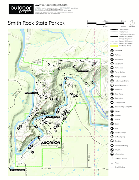 Smith Rock State Park Map