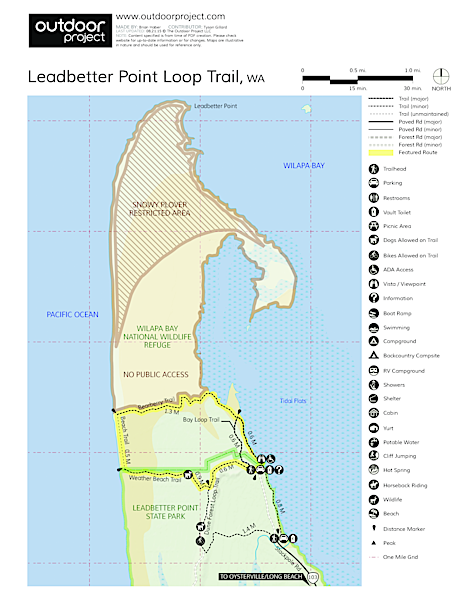 Leadbetter Point Loop Hiking Trail Trail Map