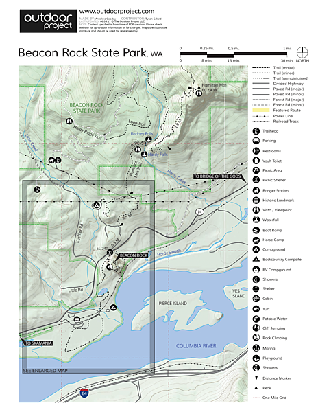 Beacon Rock Hike Trail Map