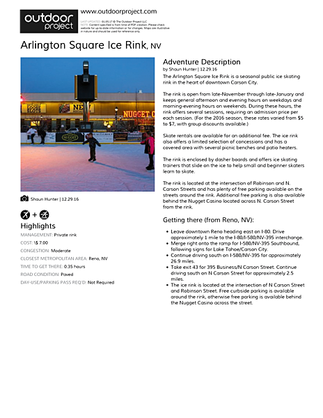 Arlington Square Ice Rink Field Guide