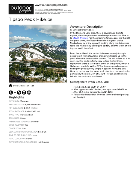 Tipsoo Peak Hike Field Guide
