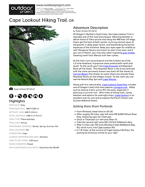 Cape Lookout Hiking Trail Field Guide