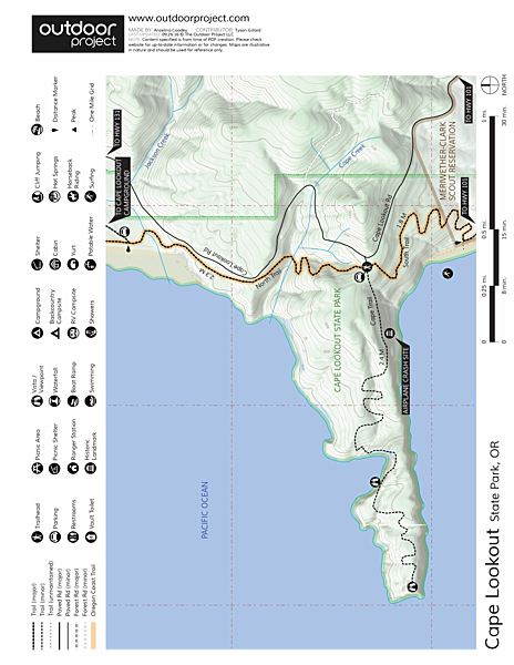 Cape Lookout Hiking Trail Trail Map