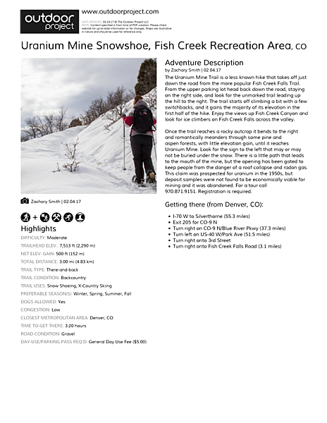 Uranium Mine Snowshoe Field Guide