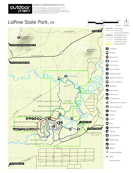 LaPine State Park Map