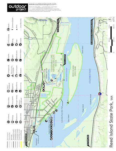 Reed Island State Park Campsite Map