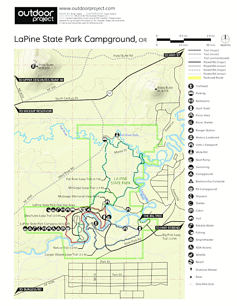 LaPine State Park Campground Map