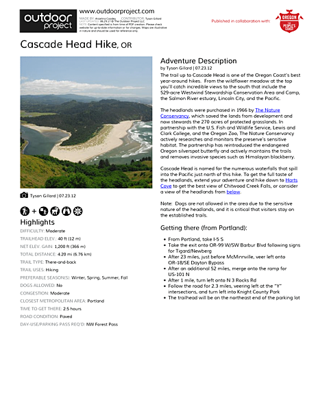 Cascade Head Field Guide