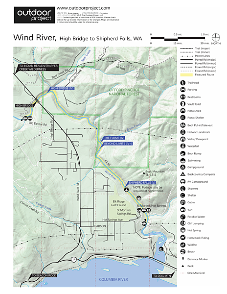 Wind River River Map