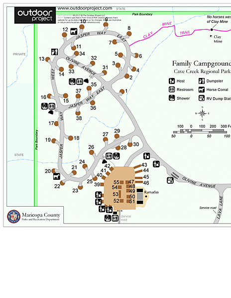 Cave Creek Campground Map
