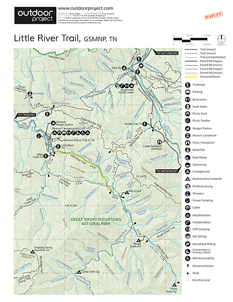Little River Trail  Trail Map