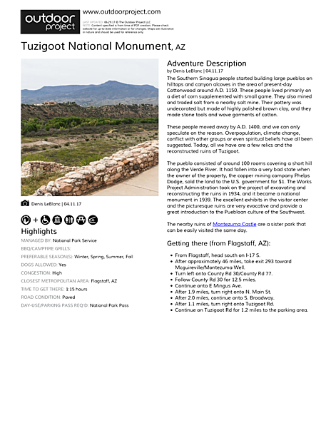 Tuzigoot National Monument Field Guide