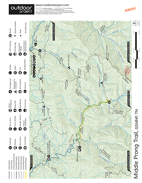 Middle Prong Trail  Trail Map