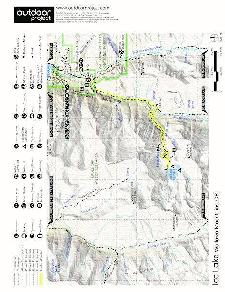 Ice Lake Trail Map