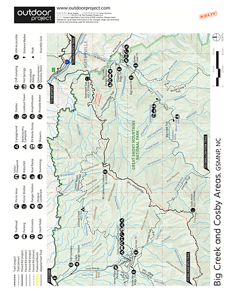 Cosby Campground  Map