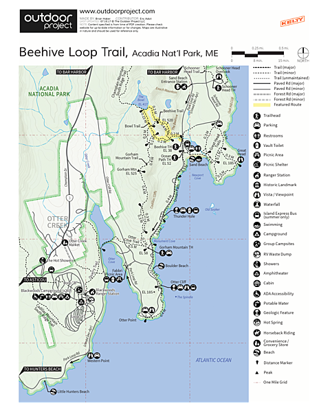 The Beehive Loop Trail Trail Map