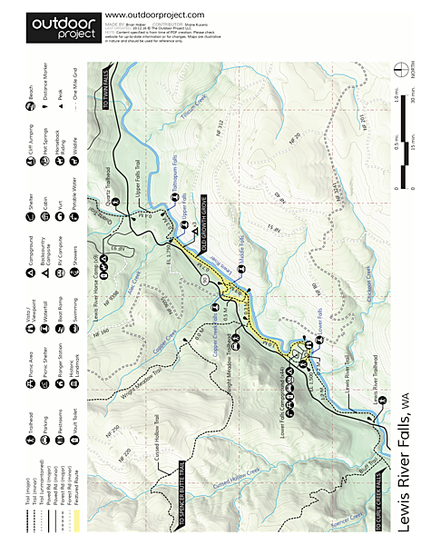 Lewis River Falls Trail Map