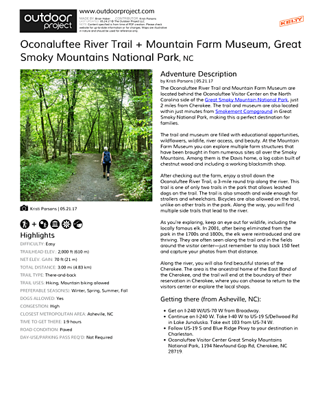 Oconaluftee River Trail + Mountain Farm Museum Field Guide