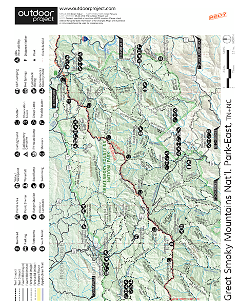 Oconaluftee River Trail + Mountain Farm Museum Trail Map