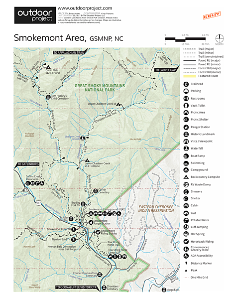Smokemont Campground  Map