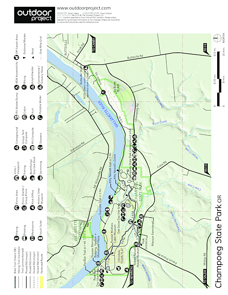 Champoeg State Park Map