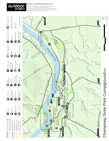 Champoeg State Park Campground Map