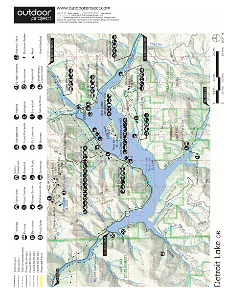 Detroit Lake, Santiam Flats Campground Map