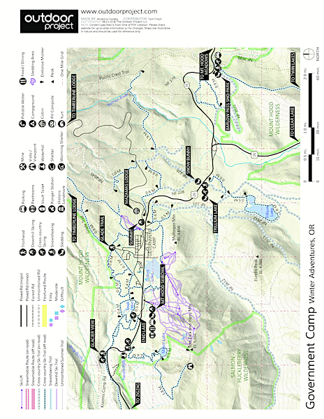 Tom Dick + Harry Mountain Map