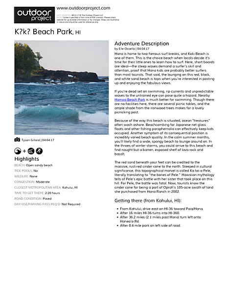 Kōkī Beach Park Field Guide