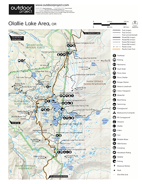 Olallie Lake + Scenic Area Map