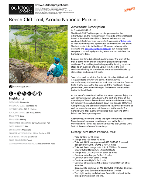 Beech Cliff Trail Field Guide