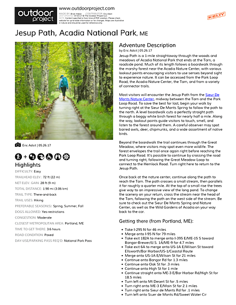 Jesup Path Field Guide