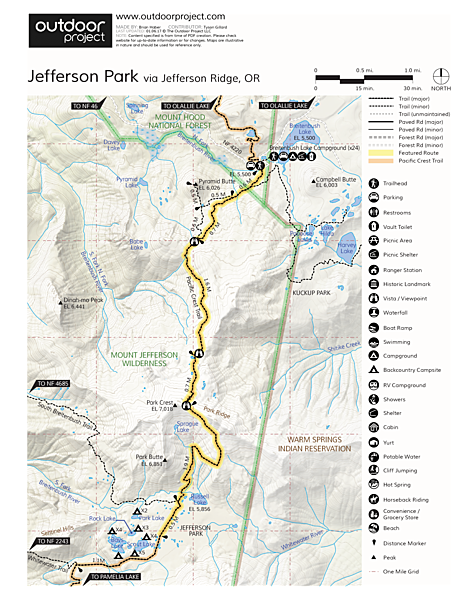 Jefferson Park Hike via Jefferson Ridge Trail Map