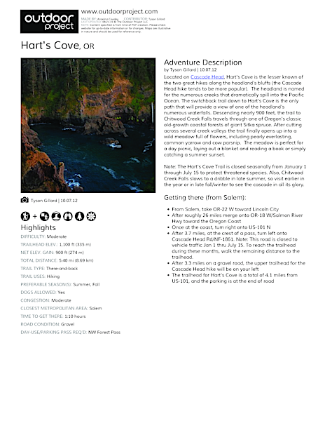 Hart's Cove Field Guide