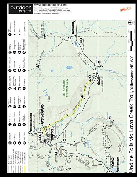 Undine Falls Via Lava Creek Trailhead Outdoor Project