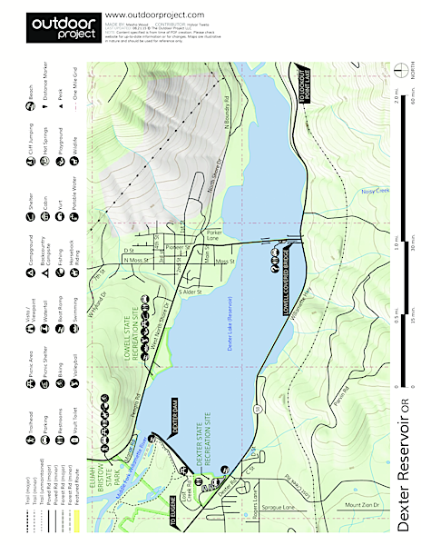 Dexter Reservoir Map