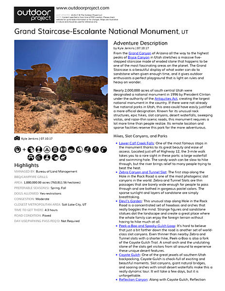 Grand Staircase-Escalante National Monument Field Guide