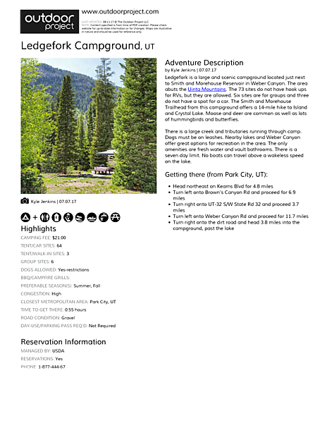 Ledgefork Campground Field Guide