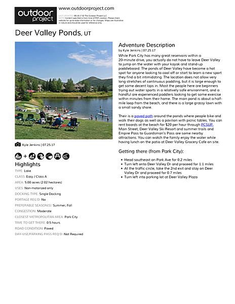Deer Valley Ponds Field Guide