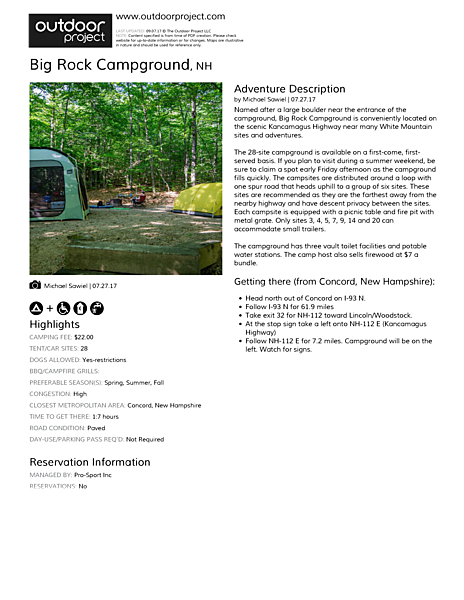 Big Rock Campground Field Guide