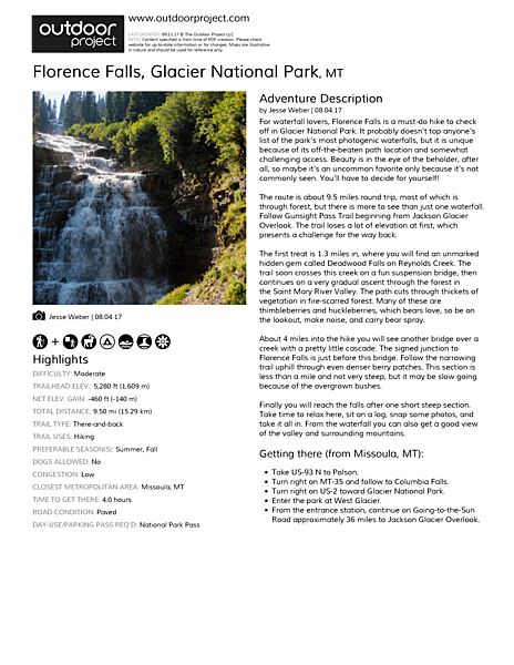 Florence Falls Field Guide