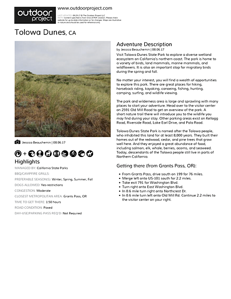 Tolowa Dunes State Park Field Guide