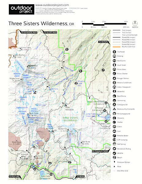 Todd Lake Hike Outdoor Project - Oregon hiking trails map