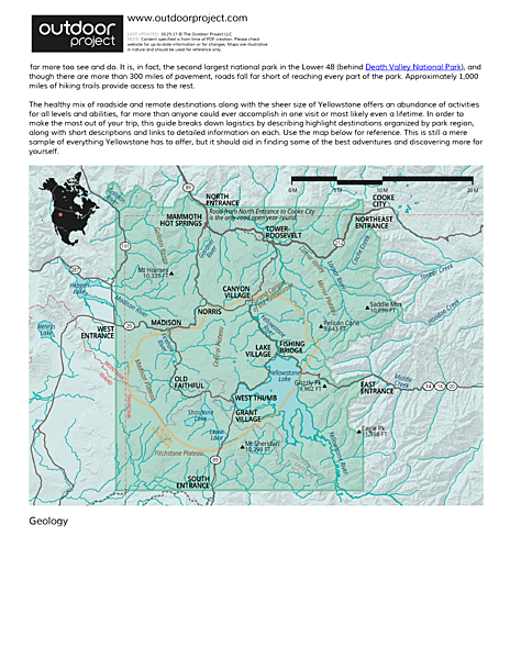 Yellowstone National Park Field Guide