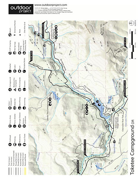 Toketee Lake Campground Map