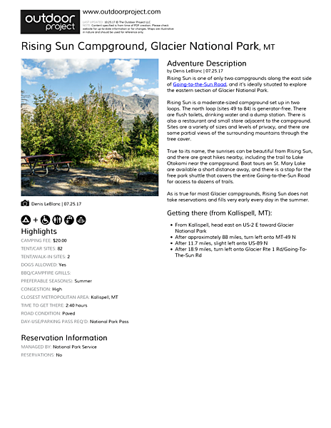 Rising Sun Campground Field Guide