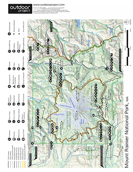 Mount Rainier: Disappointment Cleaver Route Map